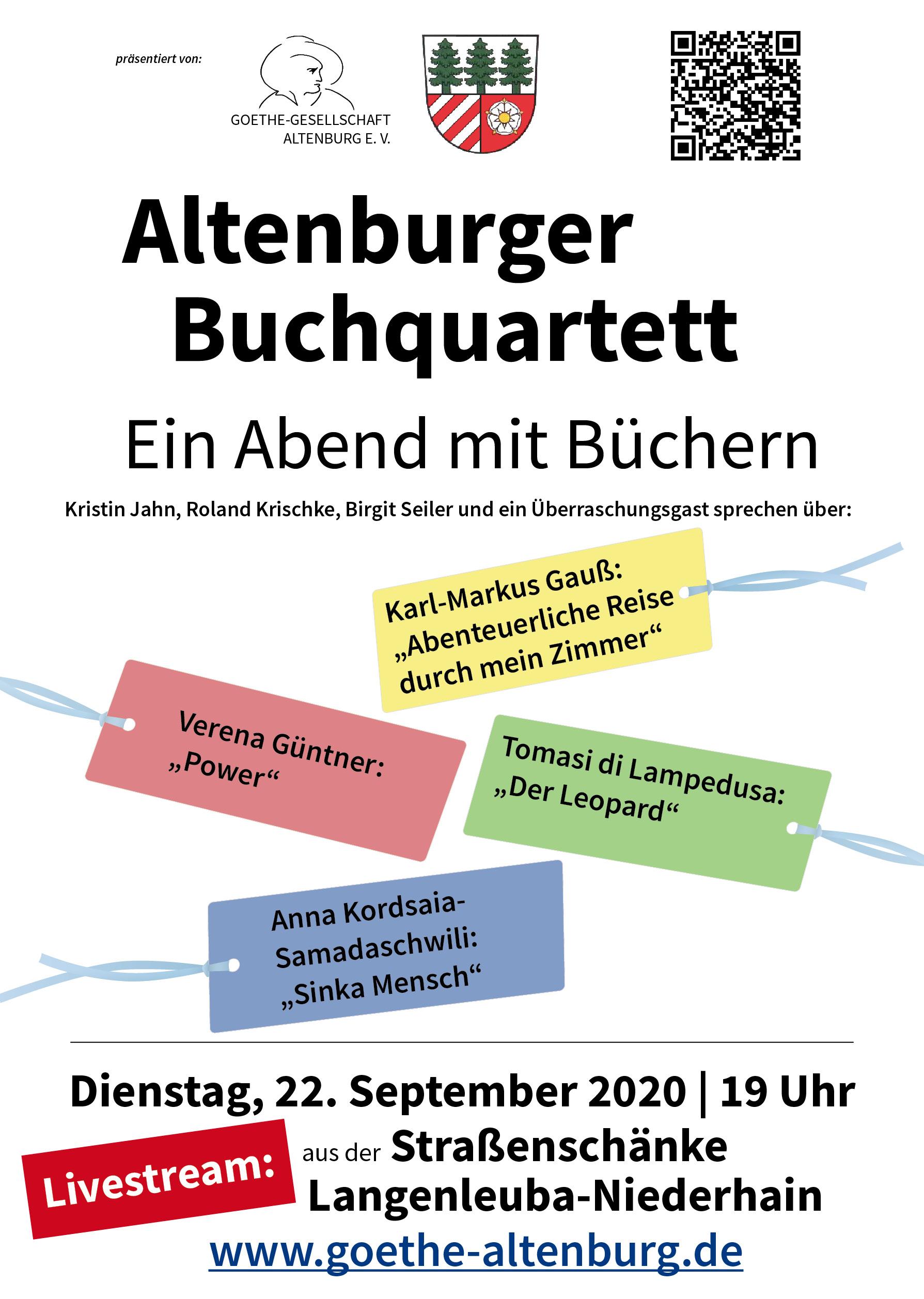 Altenburger Buchquartett zu Gast in Langenleuba-Niederhain