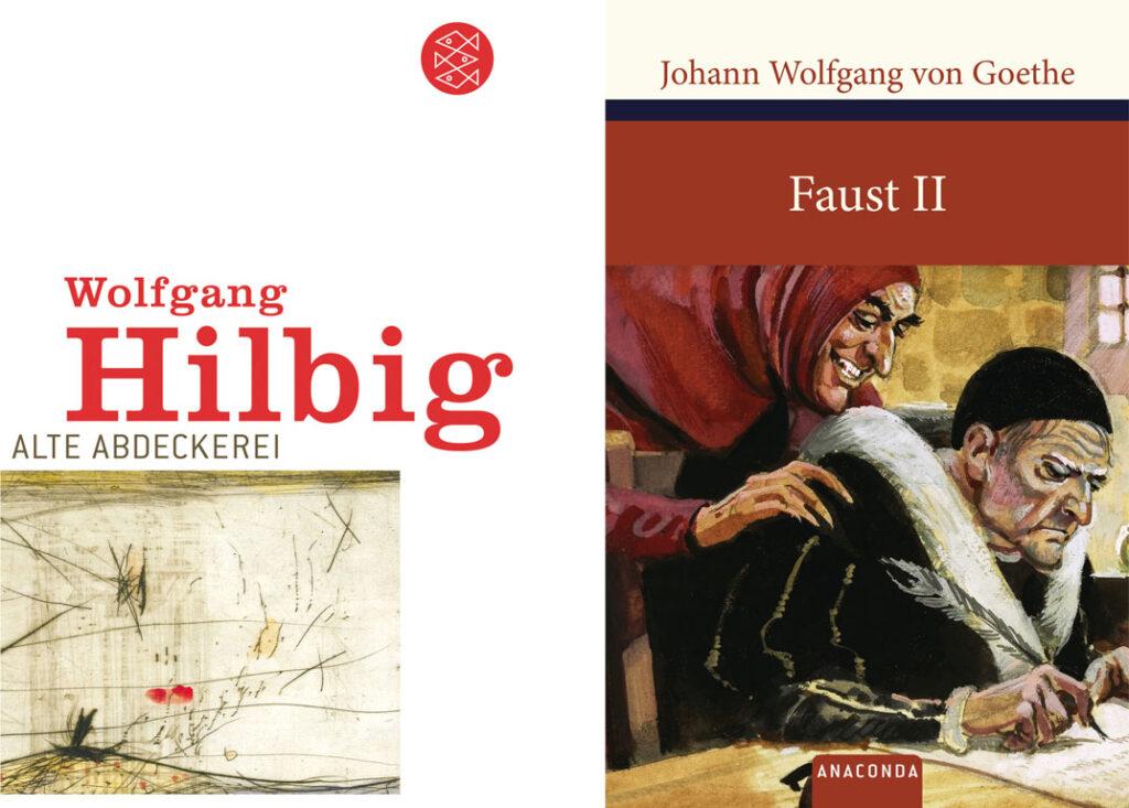 Buchcover zum Vortrag Hilbig und Goethe